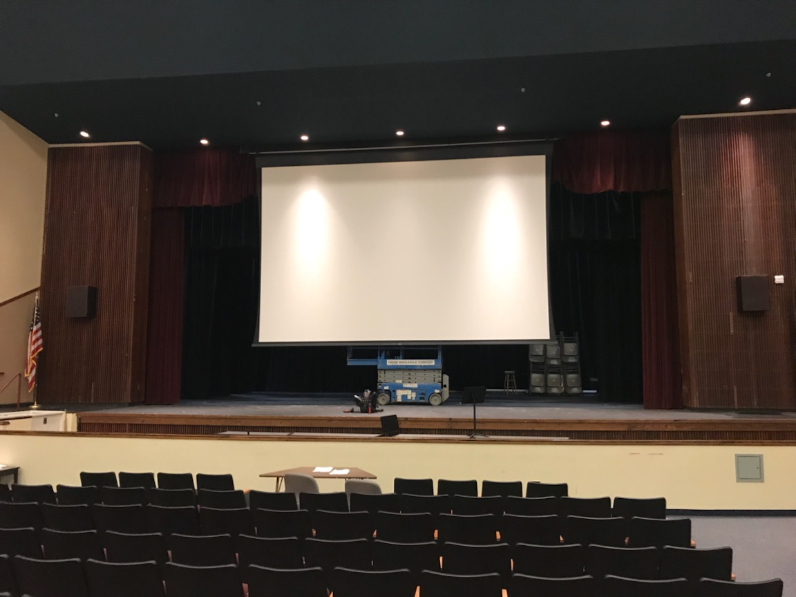 Concord High School Replacement Projection Screen