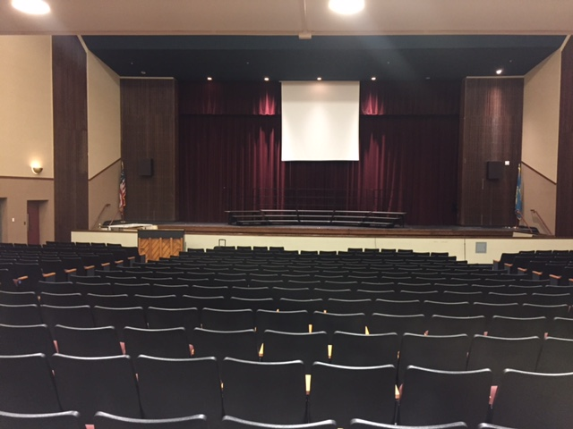 Concord High School Old Projection Screen