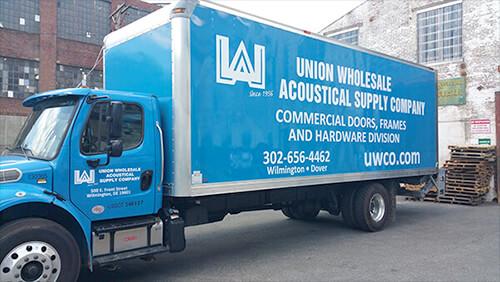uw company truck decal